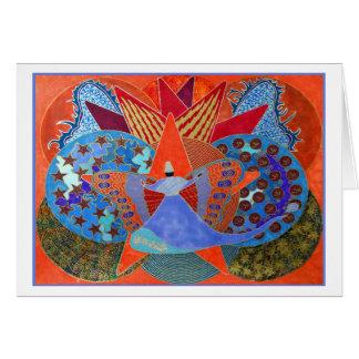 El giro en tarjeta de la mariposa