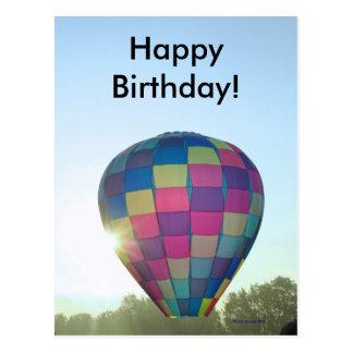 ¡El globo Sun estalló feliz cumpleaños! Tarjetas Postales