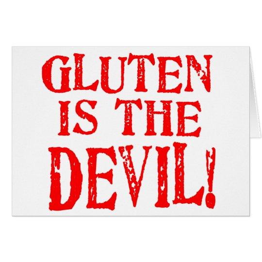 El gluten es el diablo tarjeta de felicitación