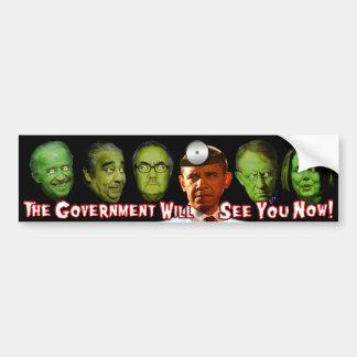 ¡El gobierno ahora le considerará!  El Dr. Obama Pegatina Para Coche