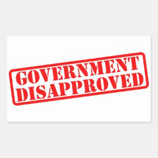 el gobierno desaprobó pegatina rectangular