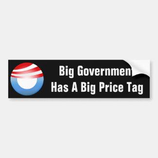 El gobierno grande nos cuesta pegatina de parachoque