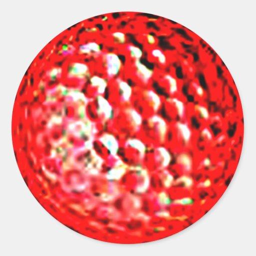 El golf ball1 del jGibney de la serie del artista Pegatina Redonda