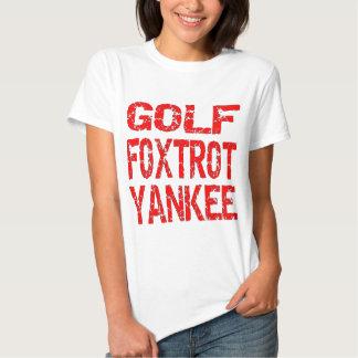 El golf Foxtrot el yanqui GFY Camisetas