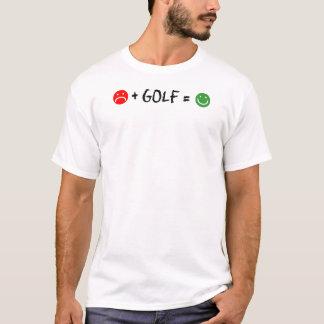 El golf más iguala la cara feliz camiseta
