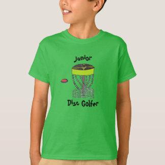 El golfista del disco del joven embroma la camiseta