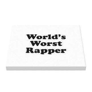 El golpeador peor del mundo impresión en lona