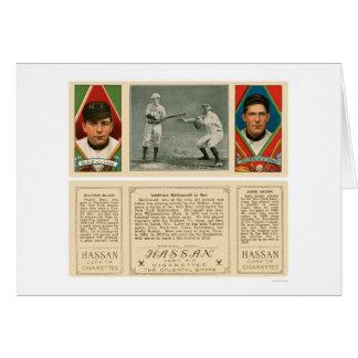 El golpear contra el béisbol 1912 de los yanquis tarjeta de felicitación