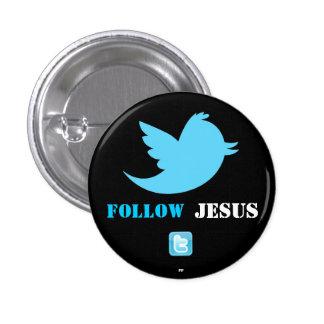 El gorjeo bird.png, twittericon.png, sigue, JES… Chapa Redonda 2,5 Cm