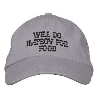 El gorra ajustable personalizado hará Improv para