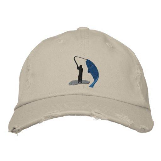 El gorra bordado captura del pescador del pescador gorra bordada