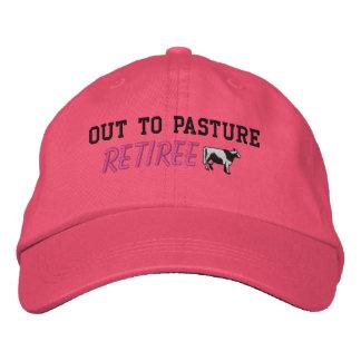 El gorra bordado de la mujer jubilada gorra de beisbol bordada