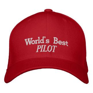 El gorra bordado el mejor piloto del mundo