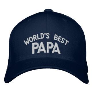 El gorra bordado la mejor papá del mundo