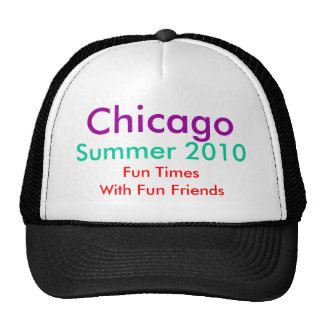 El GORRA, Chicago, verano 2010, diversión mide el  Gorros Bordados