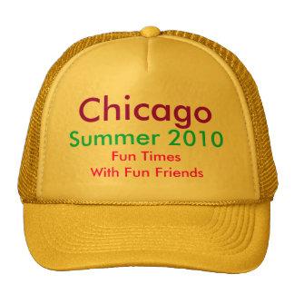 El gorra, Chicago, verano 2010, diversión mide el  Gorra