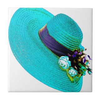 el gorra de la mujer azulejo cuadrado pequeño