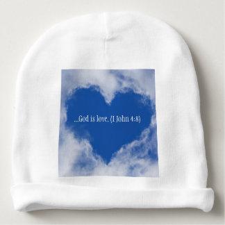 """El gorra del bebé con las palabras """"dios es amor"""" gorrito para bebe"""