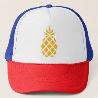 El gorra del camionero amarillo-naranja de la piña