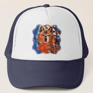 El gorra del camionero de la fauna de los lobos