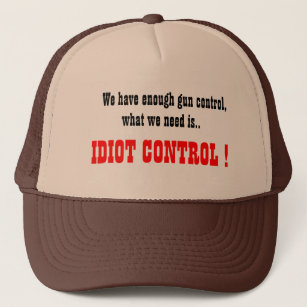 El gorra del camionero del control del idiota