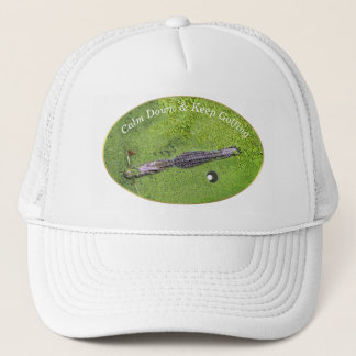 EL GORRA DIVERTIDO DEL CAMPO DE GOLF, GUARDA CALMA