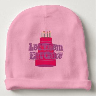 """El gorra infantil del bebé rosado con """" los dejó gorrito para bebe"""