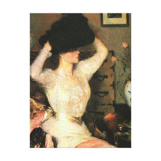 El gorra negro por las bellas arte de Frank Weston