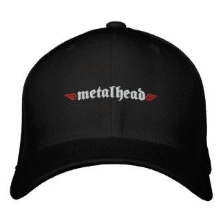 El gorra principal w/Skull del metal encendido apo Gorras De Beisbol Bordadas