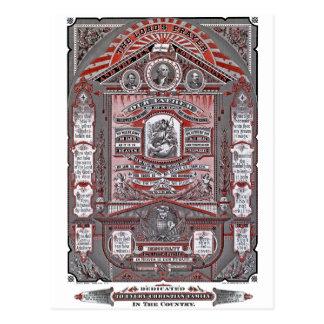 El grabado del vintage de Prayer del señor (rojo) Postal
