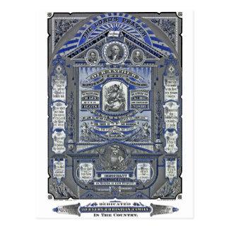 El grabado del vintage de Prayer del señor Postal