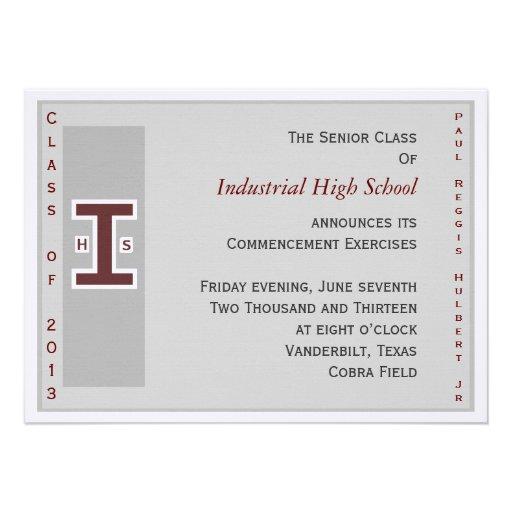 El graduado invita comunicados personales