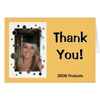 El graduado le agradece tarjeton
