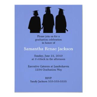 El graduado siluetea la invitación