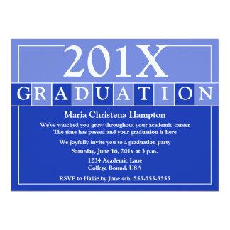 El graduado teja la invitación (azul)