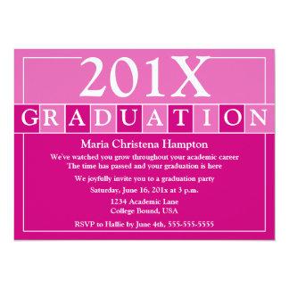 El graduado teja la invitación (el rosa)