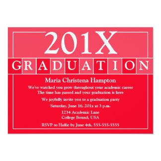 El graduado teja la invitación (roja)