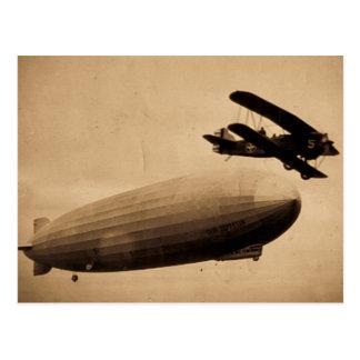 El Graf Zeppelin Approaching New York City 1928 Postal