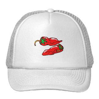 el gráfico de dos pimientas de chile suelta gorras