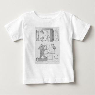 El gráfico del mecánico industrial del vintage camiseta de bebé