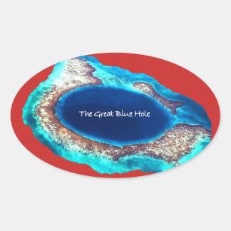 El gran pegatina azul del agujero