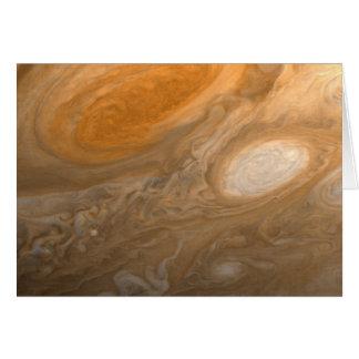 El gran punto rojo de Júpiter de la tarjeta del