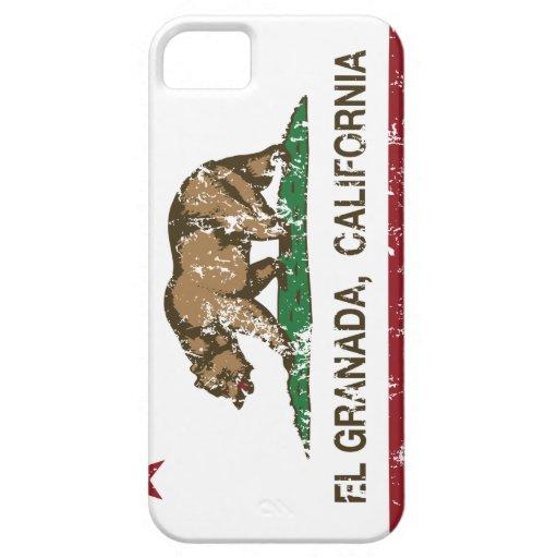 EL Granada de la bandera de la república de Califo iPhone 5 Cárcasa