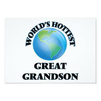 El grande más caliente del mundo - nieto invitación 12,7 x 17,8 cm