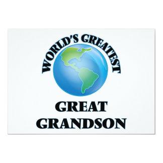 El grande más grande del mundo - nieto invitación 12,7 x 17,8 cm