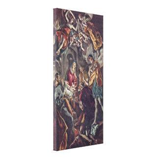 El Greco - adoración de los pastores Impresion De Lienzo