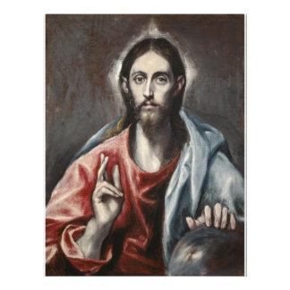 El Greco - bendición de Cristo Tarjeton