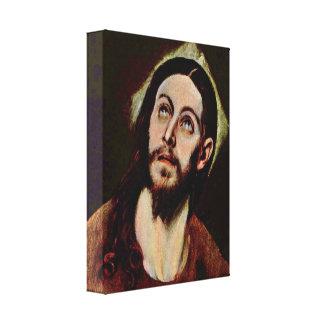 El Greco - cabeza de Cristo Lona Estirada Galerias