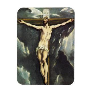 El Greco Cristo en el imán cruzado