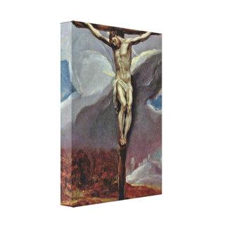 El Greco - Cristo en la cruz Impresion En Lona